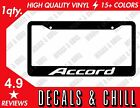 Honda Accord License Plate Frame - Decal Sticker