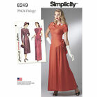 Vintage Retro New Simplicity Sewing Pattern Misses Dresses Size You Pick