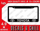 Toyota License Plate Frame Decal Sticker - Tacoma Corolla Tundra Frs Gt86 Trd