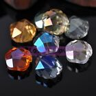 20x11mm Large Flower Faceted Crystal Glass Loose Spacer Beads Jewelry Making Diy