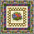 Flannel Laurel Burch Wild Ones Quilt Kit Black Or Cream Fabric Pattern Included