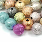40130pcs Acrylic Round Stardust Spacer Loose Beads Diy Jewelry Makings 8mm6mm