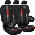 Car Seat Cover Complete Set -truck Suv Van - Flat Poly Cloth Fabric- 10 Piece