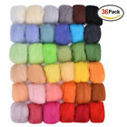 Full Set 50colors Wool Fibre Roving Felting Starter Needles Handcraft Diy Kit
