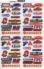 1x Rc Decals Mini Small Racing Stickers Sheet Emblem Motorcycle Racing Graphics