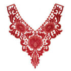 Lace Collar Trim Floral Embroidery Neckline Sewing Applique Patch Fabric Diy