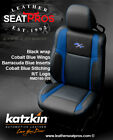 Katzkin Leather Seat Covers 2015-2020 Dodge Challenger Black Cobalt Blue Logo Rt