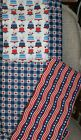 Patriotic Cotton Fabric 3 Patterns Fat Quarters Sewing Quilting Redbluewhite