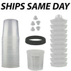 New Disposable Spray Paint Gun Plastic Liners Lids Kits 20-ounce 600ml Cups