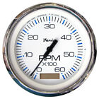 Faria 33832 Chesapeake White Ss 4 Tachometer With Hourmeter - 6000 Rpm Gas -