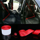 Car 3.6m Seat Belt Webbing Polyester Seat Lap Retractable Nylon Safety Strap Red