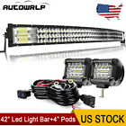 52 50 42 32 22 Curved Led Light Bar Offroad Cube Pods Driving Truck Wiring