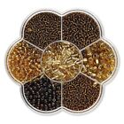 132 Grams Assorted Size Czech Glass Seed Beads In Plastic Box Case Size 110-30