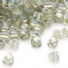 100 Glass Miyuki 4mm X 3mm Two Tone Color Lined 50 Triangle Shaped Seed Beads