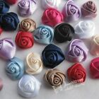 E216 Lots Upick Satin Ribbon Rose Diy Craft Scrapbook Sewing Appliques 30150pcs