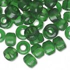 100 Glass 9mm X 7mm Crow Pony Barrel Shaped Beads With Big 3mm - 4mm Hole