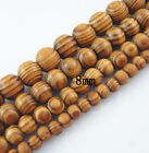 68101216mm Natural Wood Round Loose Spacer Beads Jewelry Diy Bracelet Crafts