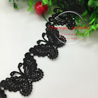 1 Yard Polyester Embroidered Butterfly Lace Trim Ribbon Sewing Diy Craft Fl43