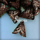 Approx 25-40pcs Cone Leaf Filigree Normal Beads Caps 17x15mm Jewelry Findings