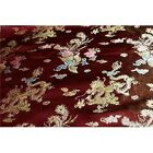 Faux Silk Polyester Chinese Asian Dragon Peacock Brocade Fabric