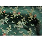 Faux Silk Polyester Chinese Asian Dragon Peacock Brocade Fabric By The Yard