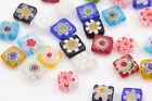 2050pcs Mixed Shape Millefiori Glass Craft Beads Multi-color Loose Spacer Bead