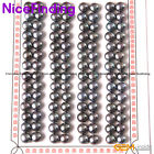 56 Pairs Half Drilled Flat Back Freshwater Pearl Earring Making Button Beads 6mm