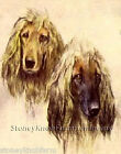 Afghan Hounds Dogs Diy Counted Cross Stitch Pattern
