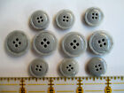 Vtg Stock Gorgeous Coat Buttons Col.gray Sz. 1 18 78 And 58 Italy