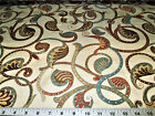 Discount Fabric Upholstery Drapery Felicity Multi Colored Jacquard Leaves Dd11
