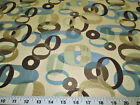 Discount Fabric Upholstery Drapery Blue Haze Multi Colored Jacquard Circles Dd30