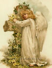 Easter Angel And Cross  Vintage Diy Counted Cross Stitch Pattern