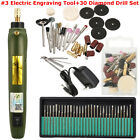 Electric Engraving Pen Engraver Jewelry Wood Carving Polishing Tool 30x Drills
