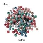200300pcs Mixed Diy Wooden Beads Round Ball Spacer Beads For Jewelry Making