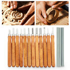 12 Piece Wood Carving Hand Chisel Tool Set Professional Woodworking Gouges Steel