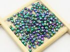 Craft Diy Peacock Mullti-color Stardust Acrylic Round Beads Spacer 4mm-10mm