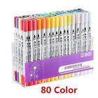 Hot Sale Dual Tip Brush Markers Pens Set Art Paint Highlighter Watercolor Ink