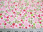 Discount Fabric Quilting Cotton Pink And Green Floral J206