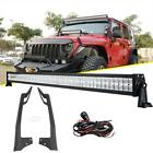 For Jeep Wrangler Jk 2007-2018 52 700w Led Light Bar Mounting Brackets Set 50