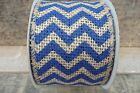 15 Ft Chevron Burlap Wire Edge Ribbon 2 12 Blue White Black Red Aqua Orange