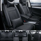 Us 100 Pu Leather Car Seat Cover 5-seat Suv Cushions Front Rear Set Wpillows