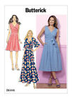 Butterick B6446 Misses Pleated Wrap Dress W Sash 3 Lengths Sew Pattern Sz 6-14