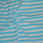 Knit Cottonlycra Fabric Ocean Stripes Blue And White 12 - By The Yard