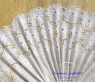 Embroidery Flower Cotton Lace Trim Ribbon Wedding Fabric Sewing 34cm Wide Fl290