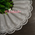 Embroidery Floral Cotton Lace Trim Ribbon Wedding Fabric Sewing 13cm Wide Fl206