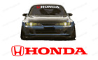 Honda Windshield Banner Decal For Type R Civic Old Civic All Honda Vehicles.