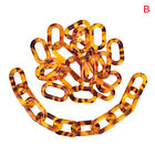 50pcsset Acrylic Leopard Print Chain Links Open Connectors Diy Jewelry Findindo