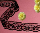 Black Lace Trim 12 - 30 Yards X 1-18 Scalloped O77v Buy Any 3 Trims Get 1-free