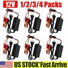 1-4 Pack Car Battery Maintainer Charger Tender 12v Auto Trickle Boat Motorcycle
