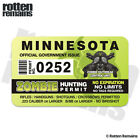 Minnesota Zombie Hunter Hunting Permit Decal Sticker Outbreak Response Unit Em0
